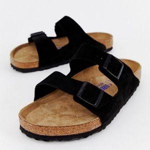 Birkenstock Arizona Black Suede Sandals 41